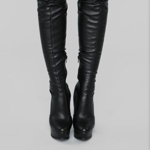 WILD DIVA Lounge Thigh High Boots Polly-02